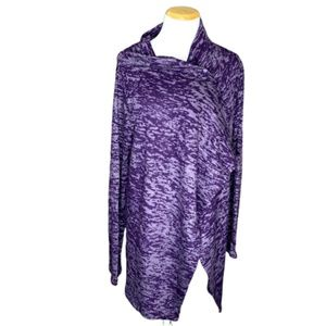 Bobeau Purple long sleeve shrug size XL